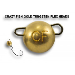 Вольфрамовая чебурашка Crazy Fish 7г цвет золото 2шт.