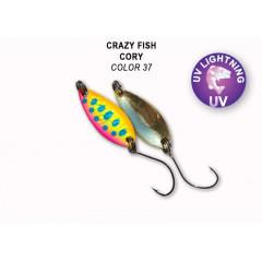 Колеблющаяся блесна Crazy Fish Cory 1.1 г #37