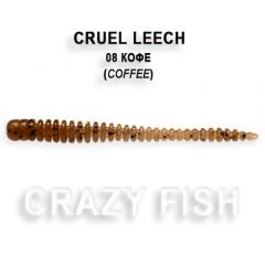 Мягкая приманка Crazy Fish CRUEL LEECH 8-5.5-8-1