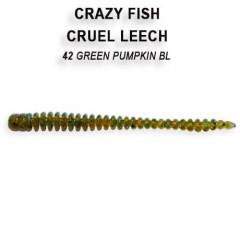 """Силиконовые приманки Crazy Fish Cruel Leech 2.2"""" 8-55-42-6"""
