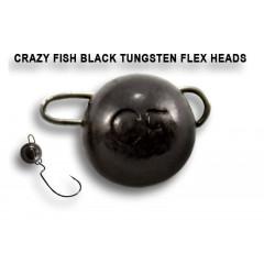 Вольфрамовая чебурашка Crazy Fish 3г цвет чёрный 3шт.