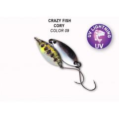 Колеблющаяся блесна Crazy Fish Cory 1.1 г #9.1
