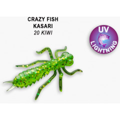 "Личинка Crazy Fish KASARI 1.6"" 51-40-20-7"