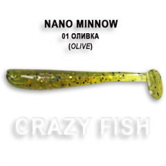 Виброхвост Crazy Fish NANO MINNOW 6-4-1-1