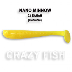 Виброхвост Crazy Fish NANO MINNOW 6-4-3-4