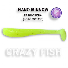 Виброхвост Crazy Fish NANO MINNOW 6-4-6-1