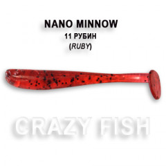Виброхвост Crazy Fish NANO MINNOW 6-4-11-2