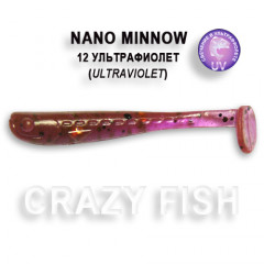 Виброхвост Crazy Fish NANO MINNOW 6-4-12-4