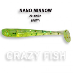 Виброхвост Crazy Fish NANO MINNOW 6-4-20-4
