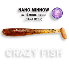 Виброхвост Crazy Fish NANO MINNOW 6-4-32-4