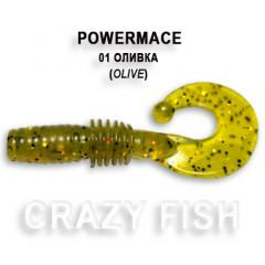 Твистер Crazy Fish POWER MACE 10-4-1-5