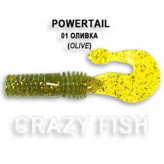 Твистер Crazy Fish POWERTAIL 4-7-1-3