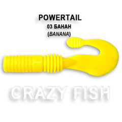 Твистер Crazy Fish POWERTAIL 4-7-3-4