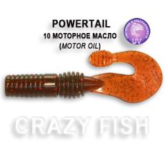 Твистер Crazy Fish POWERTAIL 4-7-10-4