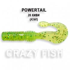 Твистер Crazy Fish POWERTAIL 4-7-20-4