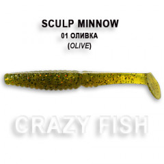 "Виброхвост Crazy Fish SCALP MINNOW 4"" 18-10-1-4"