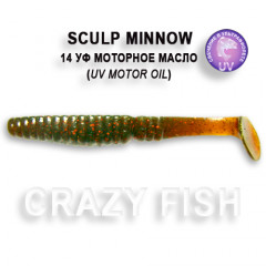 "Виброхвост Crazy Fish SCALP MINNOW 4"" 18-10-14-4"