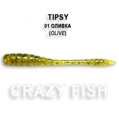 Мягкая приманка Crazy Fish TIPSY 9-5-1-6