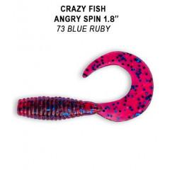 """Силиконовая приманка Crazy Fish Angry Spin 1.8"""" 79-45-73-6"""