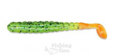 "Виброхвост Slider 3"" Grub CHARTREUSE BLACK FLAKE/ORANGE TAIL SBGF15 13 ct."