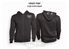 Худи флисовый Crazy Fish Cotton Black - M