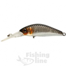 Воблер JACKALL Diving Chubby Minnow 35SP 2,7g hl silver & black